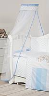 Балдахин для детской кровати Twins Dolce D-003 Друзі зайчики, голубой