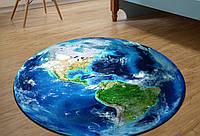 Круглый 3D коврик 80 см