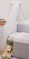 Балдахин для детской кровати Twins Dolce D-008 Мишки, белый/серый