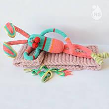 Іграшка-брязкальце амігурумі - Заєць Джон