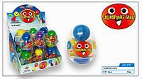 Пластмассовое яйцо с игрушкой Прыгающие смайлы 12 шт Aras