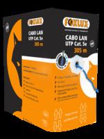 Кабель cat. 5e FoxLux UTP 4x2x0.50mm.CCA 305м. для внутренней прокладки (синий)