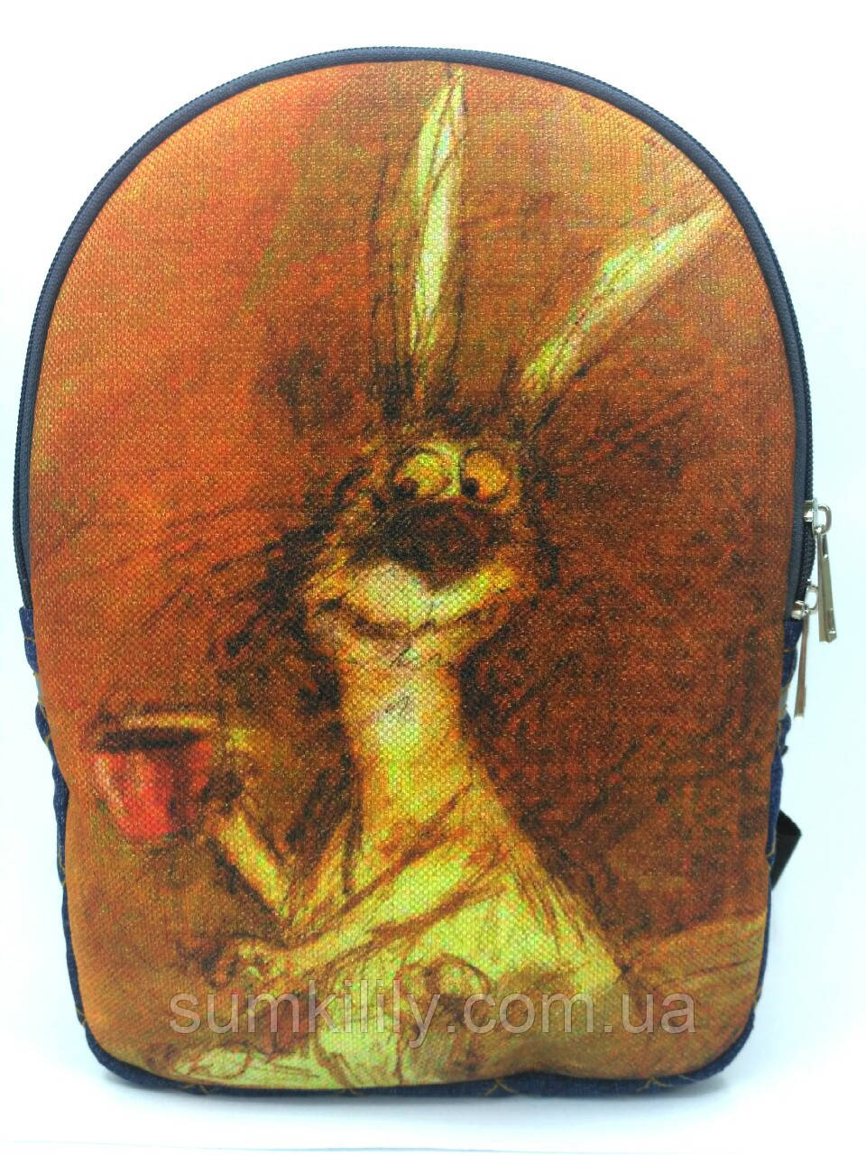 Джинсовый рюкзак Утренний заец