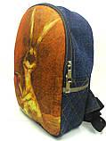 Джинсовый рюкзак Утренний заец, фото 2