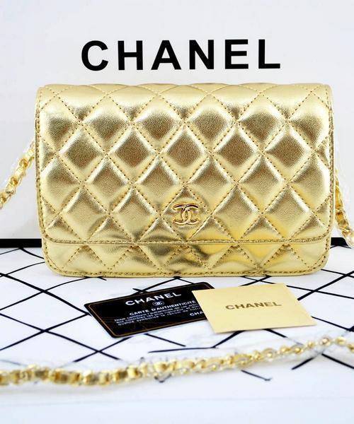 17658d1c2fa6 Женская сумка CHANEL WOC Gold (8096) - Интернет-магазин VipSymki в Киеве