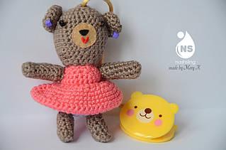 Іграшка-брязкальце амігурумі - Ведмедик Бэба