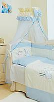 Балдахин для детской кровати Twins  Evolution A-06 Ангелочки, голубой