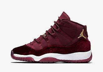 Кроссовки женские баскетбольные Nike AIR JORDAN 11 RETRO RED WINE, найк джордан