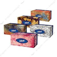 SELPAK Салфетки гигиенические в коробке Мини Микс 70шт