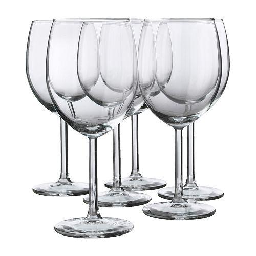 "IKEA ""SVALKA"" Бокал для красного вина, стекло бесцветное, набор 6 шт"