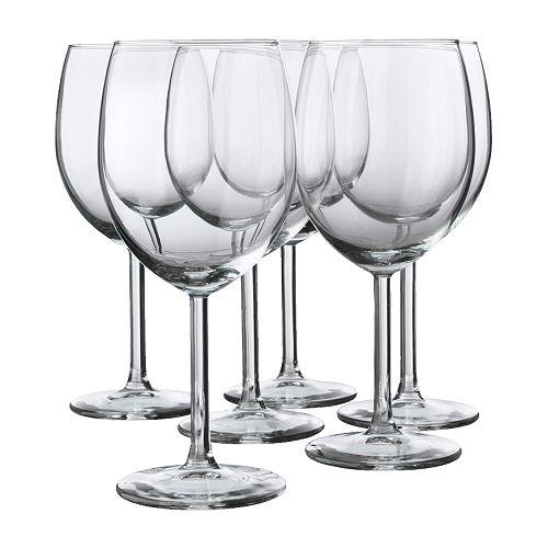 "IKEA ""SVALKA"" Бокал для красного вина, стекло бесцветное, набор 6 шт, фото 1"