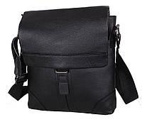 Повседневная мужская кожаная сумка через плечо черная Accessory Collection RT-003R