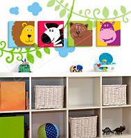 """Картины для детской """"Африка"""" 22х22х2 см"""