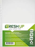Файлы для бумаг Fresh Up А4 30 мкм прозрачные