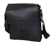 Мужская сумка через плечо черная из натуральной кожи Accessory Collection RT-004R
