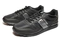 Спортивные мужские кроссовки в черном цвете