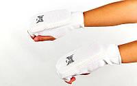 Накладки (перчатки) для каратэ ZEL (р-р S-XL, белый)
