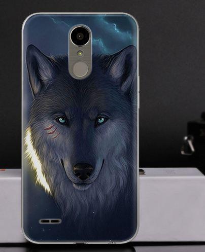 Оригинальный чехол накладка для LG K10 2017 / M250  с картинкой Волк