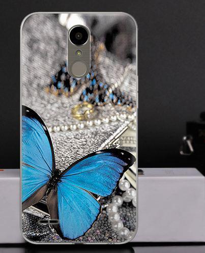 Оригинальный чехол накладка для LG K10 2017 / M250  с картинкой Бабочка