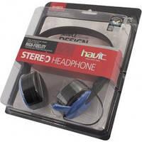 Наушники headphone  HAVIT  HV-H607D, blue, with mic