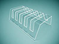 Прозрачная подставка для трех тарелок 190х120х58 мм