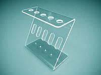 Акриловая подставка для ручек на 5 шт. 120х100х50 мм (Толщина акрила : 1,8 мм; ), фото 1