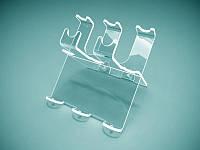 Пластиковая подставка под ручки на 5 шт. 100х85х120 мм (Толщина акрила : 3 мм; )