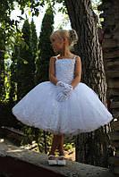 Платье детское нарядное короткое. Пышная юбка. Размер от года.