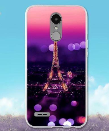 Чохол бампер силіконовий для LG K10 2017 / M250 з картинкою Париж вночі