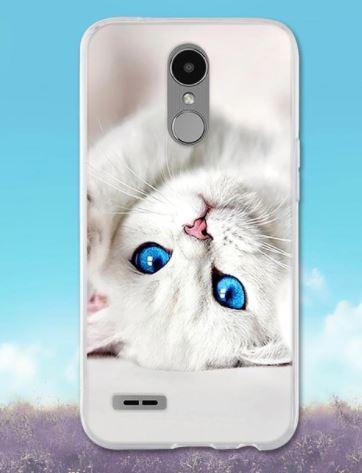 Чохол бампер силіконовий для LG K10 2017 / M250 з картинкою Білий кошеня