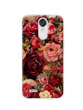 Чехол бампер силиконовый для LG K10 2017 / M250  с картинкой Розы