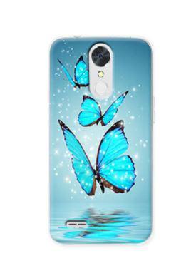 Чехол бампер силиконовый для LG K10 2017 / M250  с картинкой Три бабочки