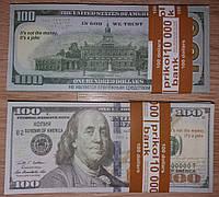 Сувенирная пачка денег - 100 долларов новые
