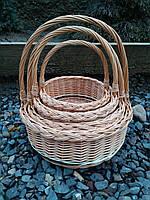 Корзинки плетеные детские набор из цельной лозы, фото 1