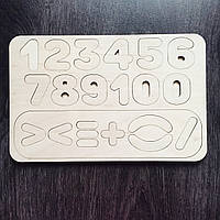 Детская развивающая деревянная игра «Цифры»