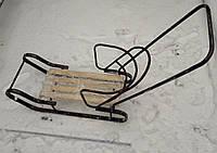 Санки детские со спинкой и ручкой для толкания №2, фото 1