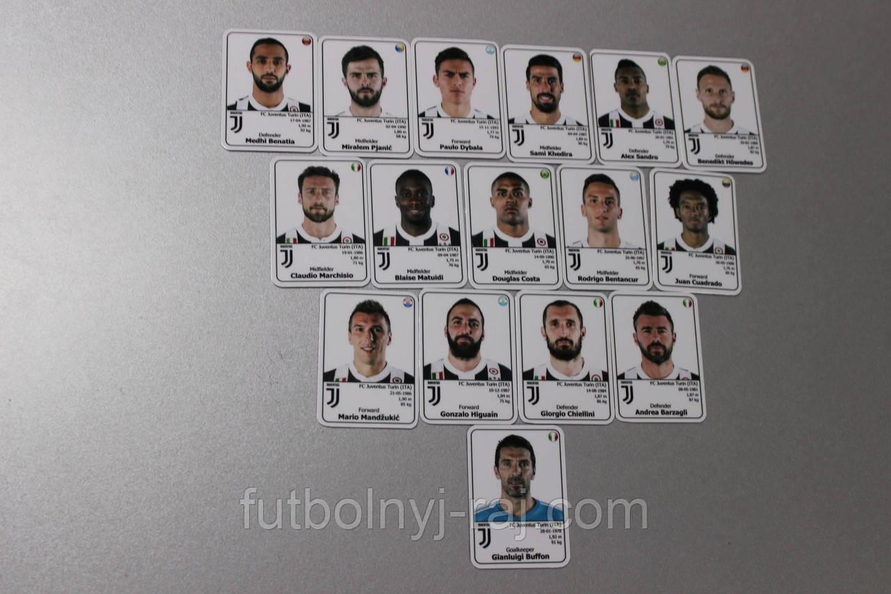 ФК Ювентус. Набір магнітів з зображенням 16 гравців