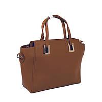 Коричневая сумка - шоппер  + клатч в подарок!