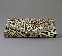 Клатч леопардовый из кожзама