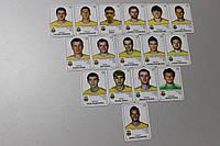Сборная Украины по футболу. Набор магнитов с изображением 16 игроков