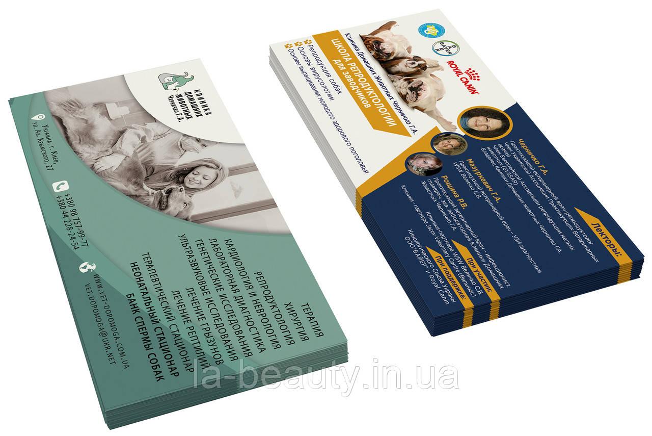 Дизайн и печать флаеров / листовок (ветеринарной клиники / школы репродуктологии)