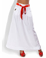 Летняя длинная белая юбка 1264