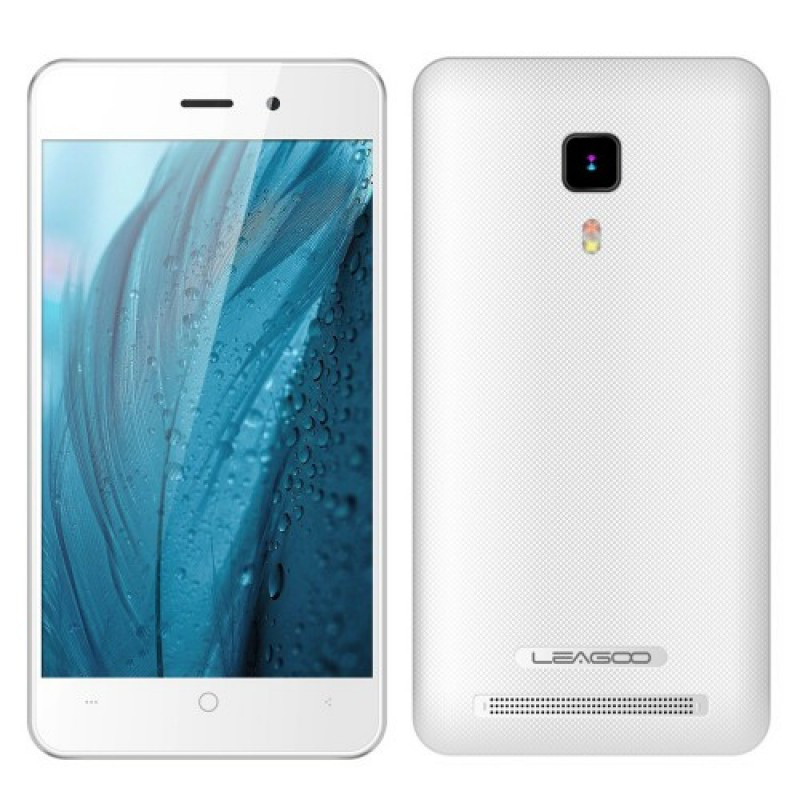 "Смартфон Leagoo Z1C white, 512Mb/8Gb, 3/2Мп, 2sim, 4 ядра, экран 4"" IPS, 1400mAh, GPS, 3G."