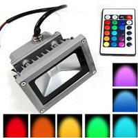Прожектор RGB, 10W, 220V