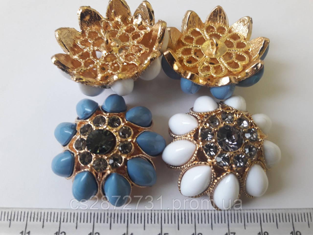 Пуговици декоративные, искуственный камень, хрусталь, форнитура