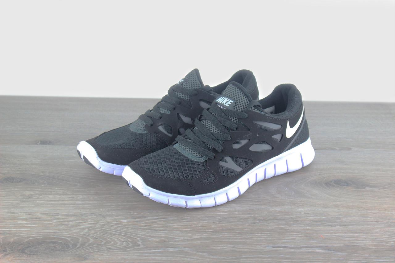 3e961b06 Мужские кроссовки Nike Free Run 2.0 Black White - Интернет магазин
