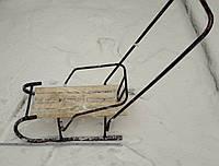 Санки детские со спинкой и ручкой для толкания №1