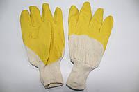 Перчатки нитриловые  с неполным обливом, стекольщика (жёлтые)