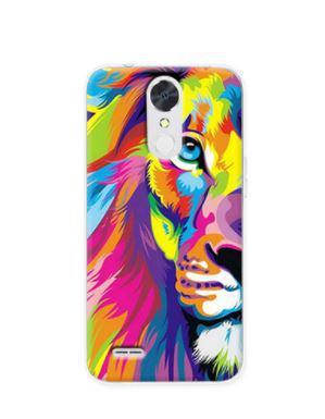 Чехол с картинкой (силикон) для LG K10 2017 / M250 Цветной лев