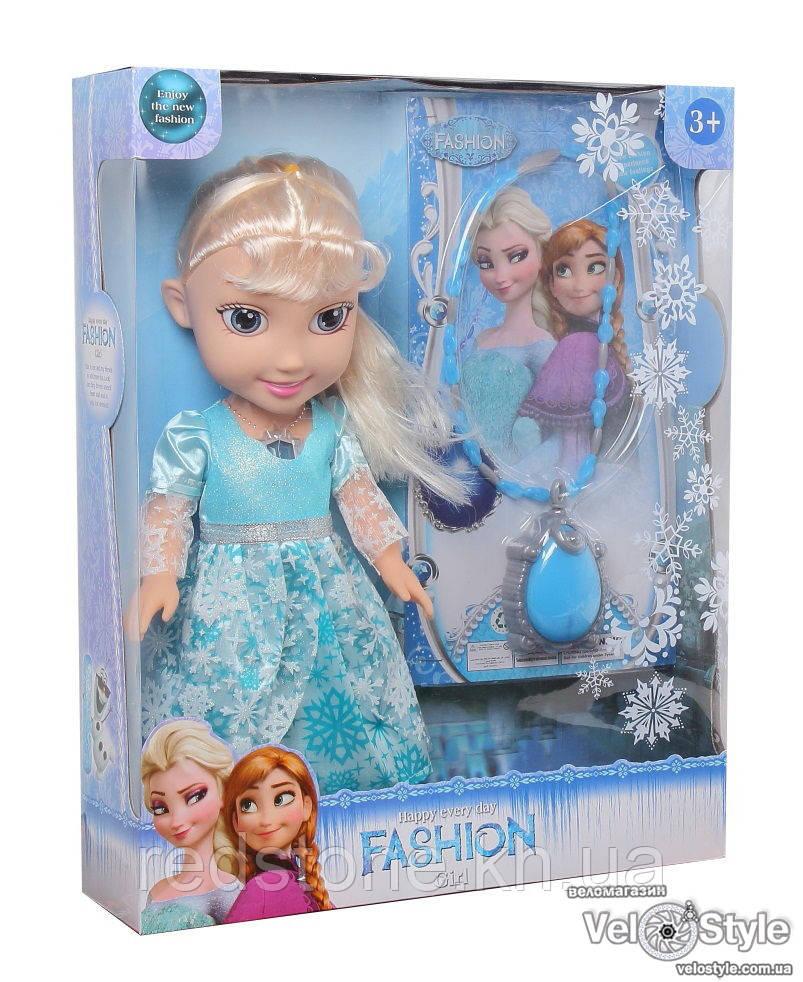 Кукла Frozen Фрозен Холодное сердце Эльза ожерелье звук свет